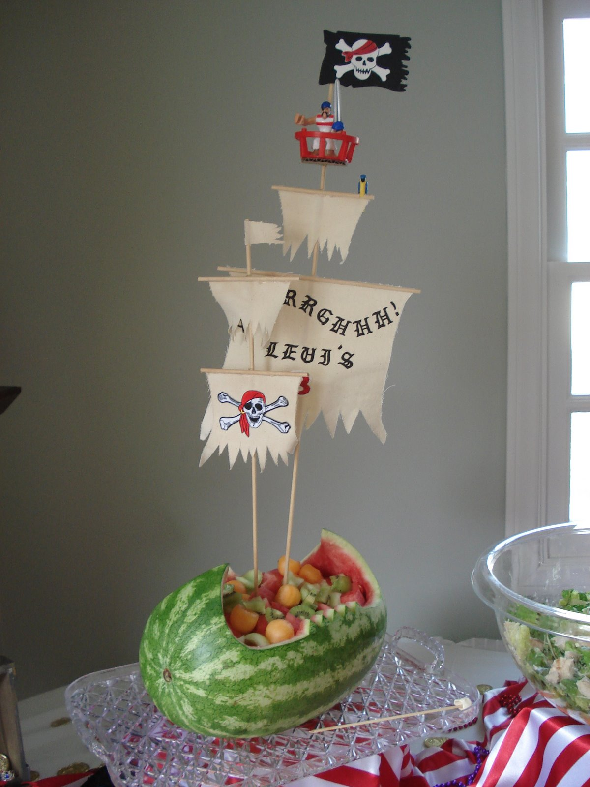 It s written on the wall watermelon a teapot birthday