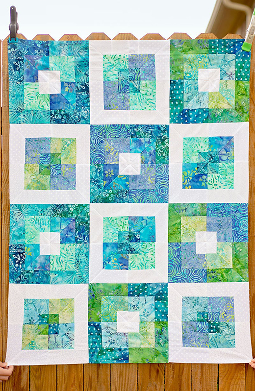 Seaside Squares Lap Quilt Free Tutorial designed by Jamie Sanders of Scattered Thoughts of a Crafty Mom