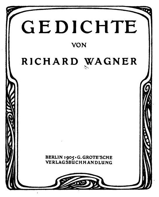 Munich And Co Epitaphium Un Poème De Wagner En Forme D
