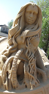 Kalevala hiekkaveistos