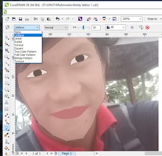 cara membuat gambar kartun wajah coreldraw