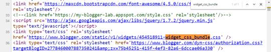 cari dari view source code