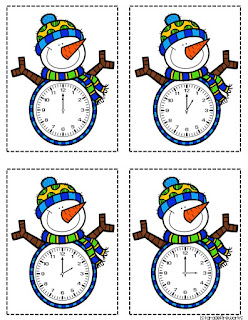 Snowman clocks for What Time Is It?