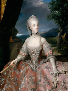 Mengs painted Queen Maria Carolina in 1768, around the time they were married