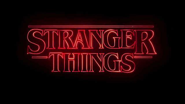 títulos de crédito de Stranger Things