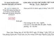 TP.HCM gửi công văn khẩn: Từ 0g đêm nay 31-7, cấm tụ tập 30 người, đóng cửa bar, vũ trường...