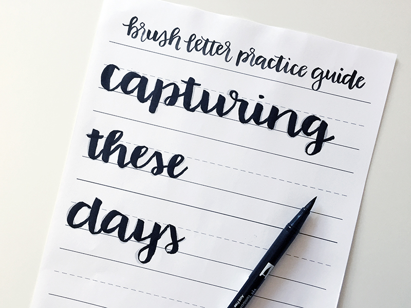Brush lettering beginners guide download and tutorial sarah types