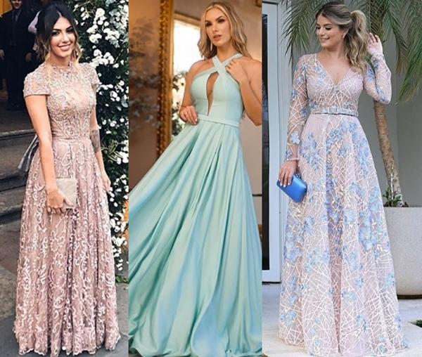 vestido de festa longo para madrinha de casamento