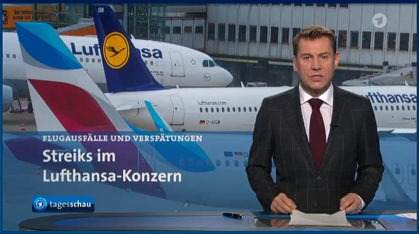 Airline Stike In Germany Lufthansa Pilots And Eurowing Crews On