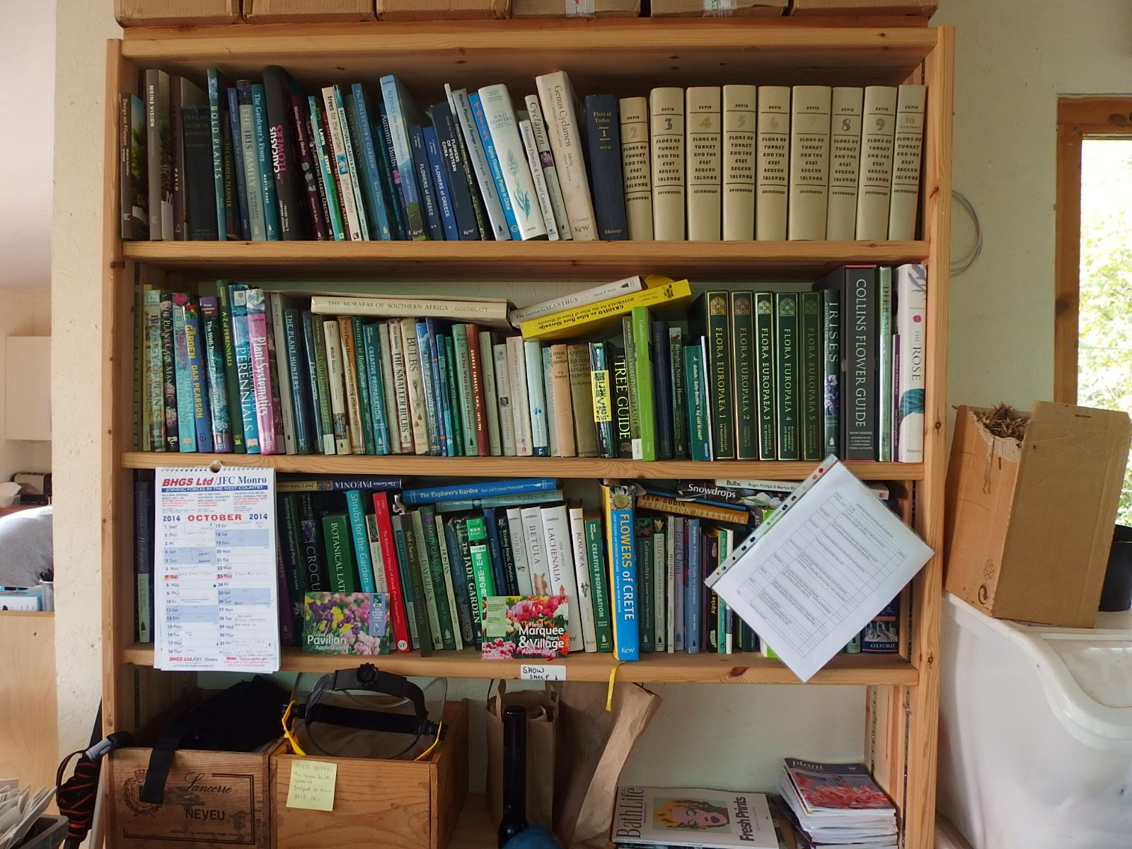 View of the reference library in the nursery office