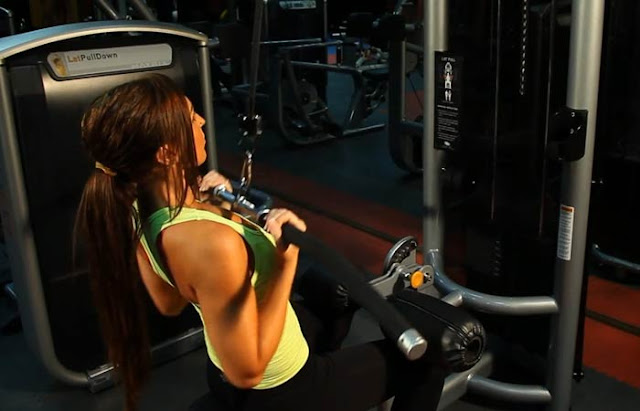 Reduce Back Fat Fast For Women- Underhand Cable Pulldown