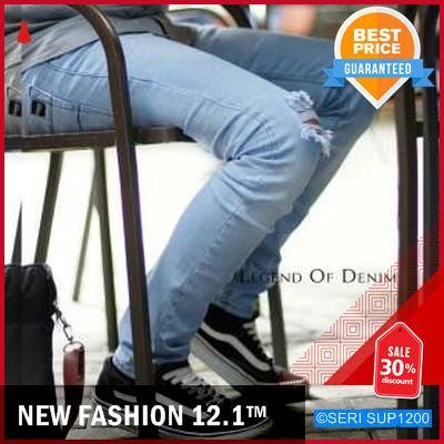SUP1200C18 Celana Jeans Sobek Pria Celana Denim BMGShop