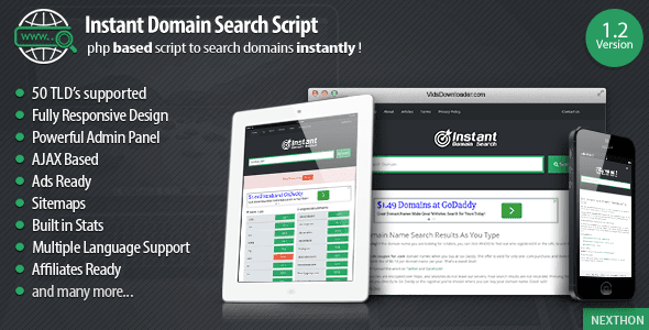 how to make domain search in php