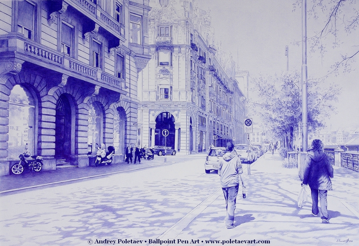 01-Magnificent-Streets-Zurich-Andrey-Poletaev-Detailed-Urban-Drawings-achieved-with-a-Ballpoint-Pen-www-designstack-co