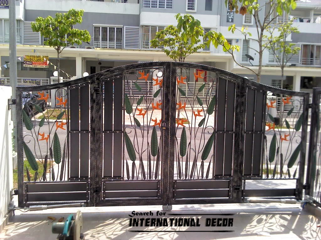 Choice of gate designs for private house and garage - Sliding main gate design for home ...