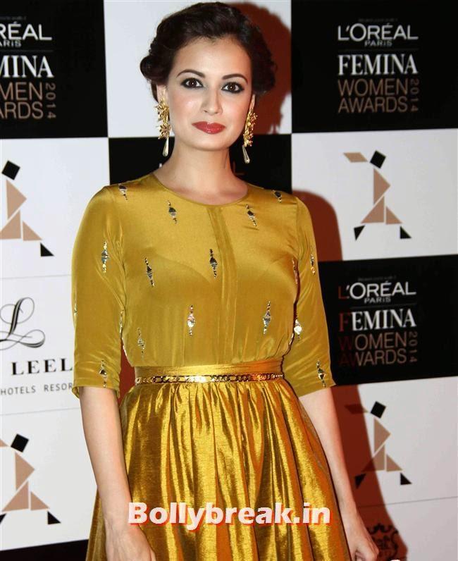 Dia Mirza, L`Oreal Paris Femina Women Awards 2014