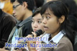 Mengomentari Pendapat Narasumber Dalam Dialog Interaktif Pada