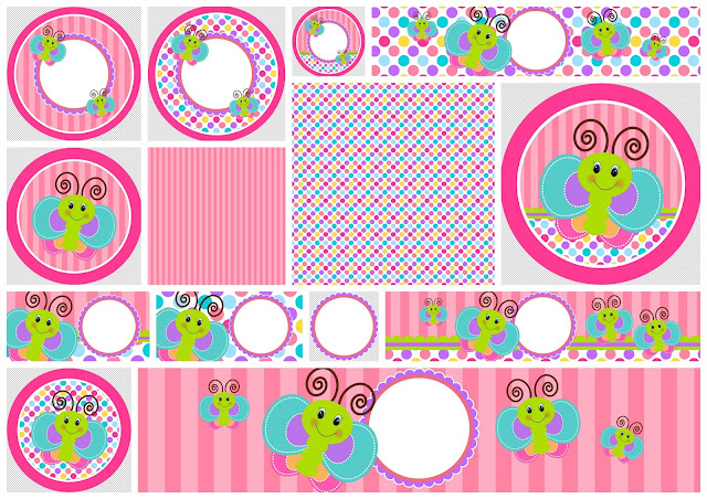 Funny Butterfly: Free Printable Candy Bar Labels.
