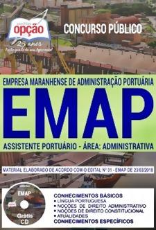 Apostila Concurso EMAP 2018 Assistente Portuário – Área: Administrativa