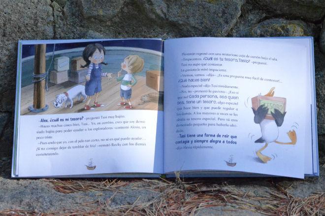 libro infantil Los atrevidos en busca del tesoro, educacion emocional
