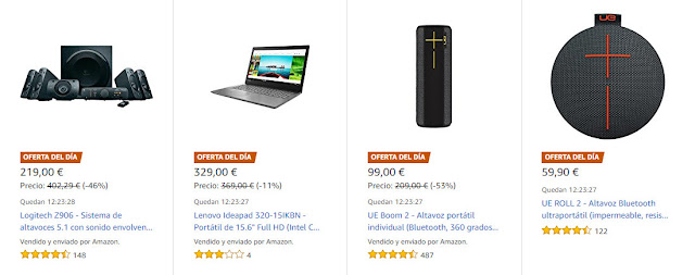 ofertas-26-03-amazon-4-ofertas-del-dia-y-4-ofertas-flash