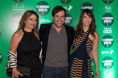 Flávia Garrafa, Leandro Hassum e Rosanne Mulholland - Divulgação