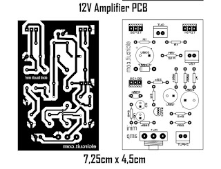 12V Power Amplifier PCB Layout Design
