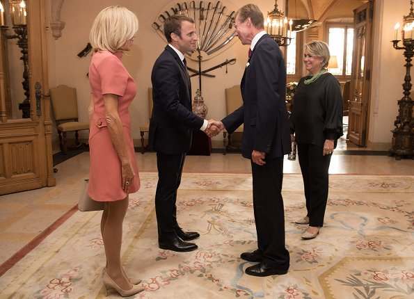 Grand Duke and Grand Duchess Meet French President and his wife