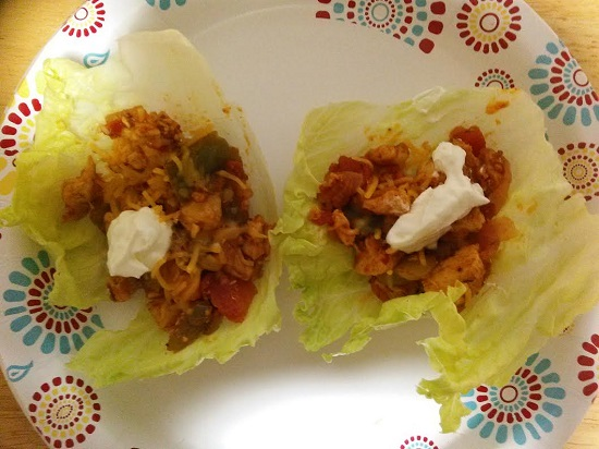 Lea's Chicken Veggie Lettuce Tacos are a delicious and lightened up Taco Tuesday meal while trying to lose weight. Hope you enjoy!