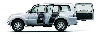 Mitsubishi Pajero exteriors : towing capacity