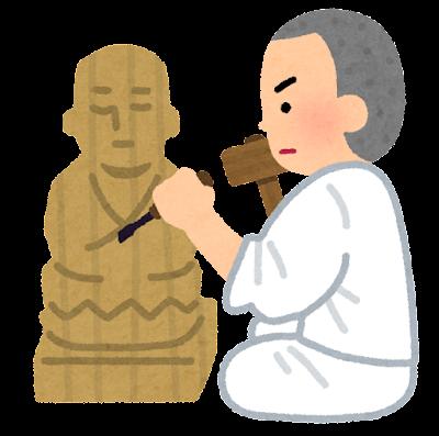 仏師のイラスト