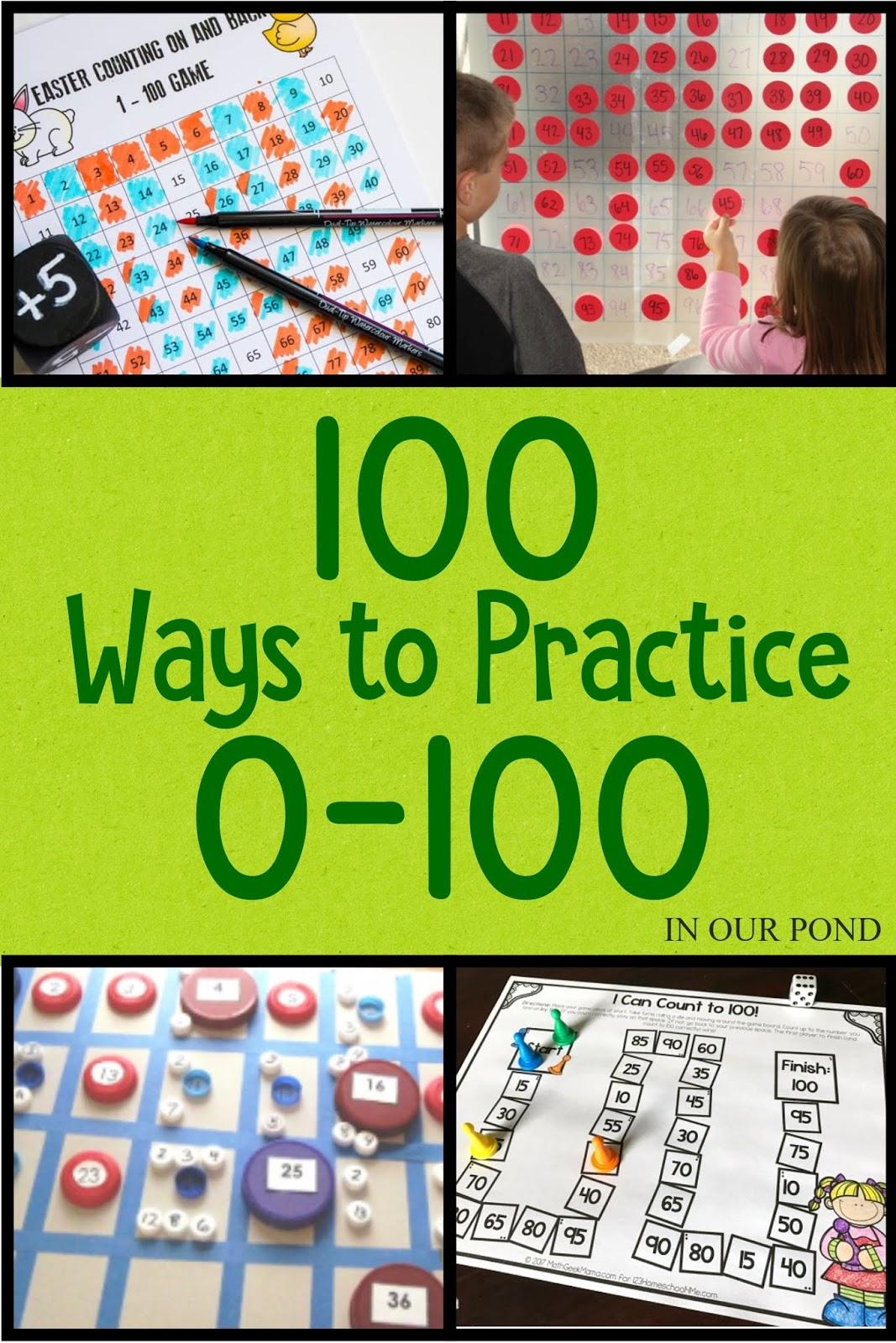 100 Ways To Practice Numbers 0 To 100