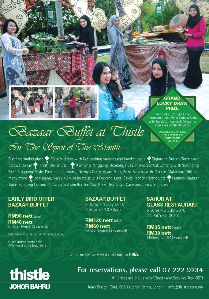 Buffet Ramadhan 2016 Thistle Hotel