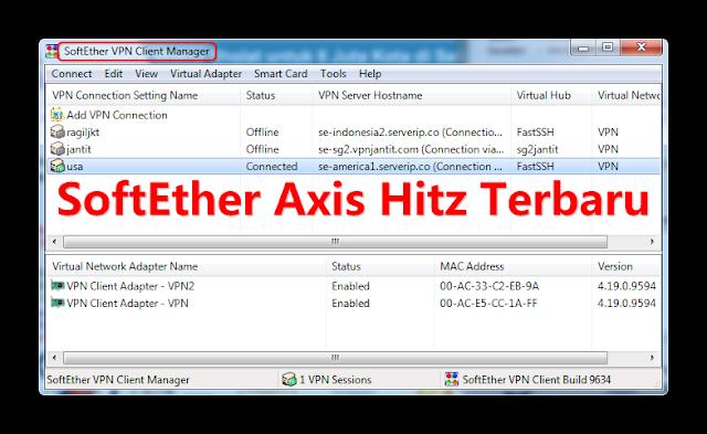 Cara Internet Gratis di PC dengan SoftEther Axis Hitz