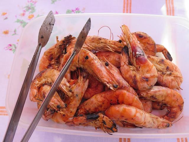 Crevettes grillés