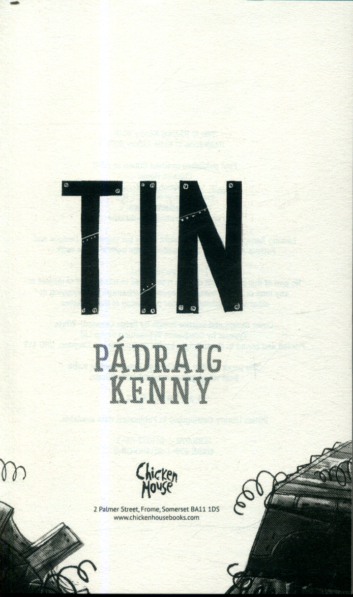Book cover for Pádraig Kenny's Tin in the South Manchester, Chorlton, and Didsbury book group