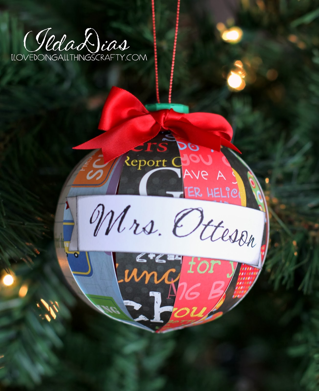 I Love Doing All Things Crafty Christmas Ornaments For