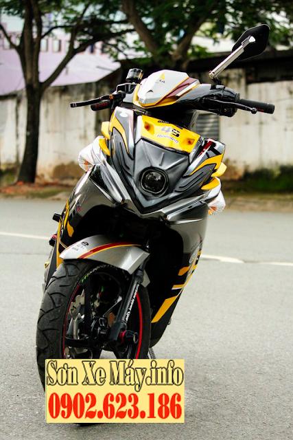 Sơn phối màu xe Nouvo SX màu vàng đen xám