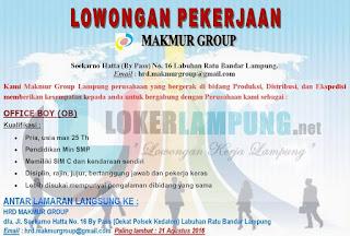 Bursa Kerja Lampung di Makmur Group Terbaru Agustus 2016.