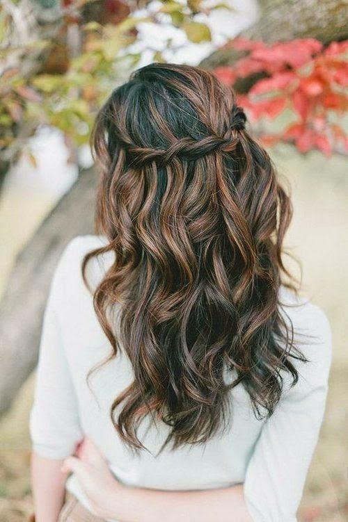 Peinados boda pelo largo trenza