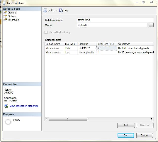 1 - Koneksi Sql Server Dengan Microsoft Visual Studio