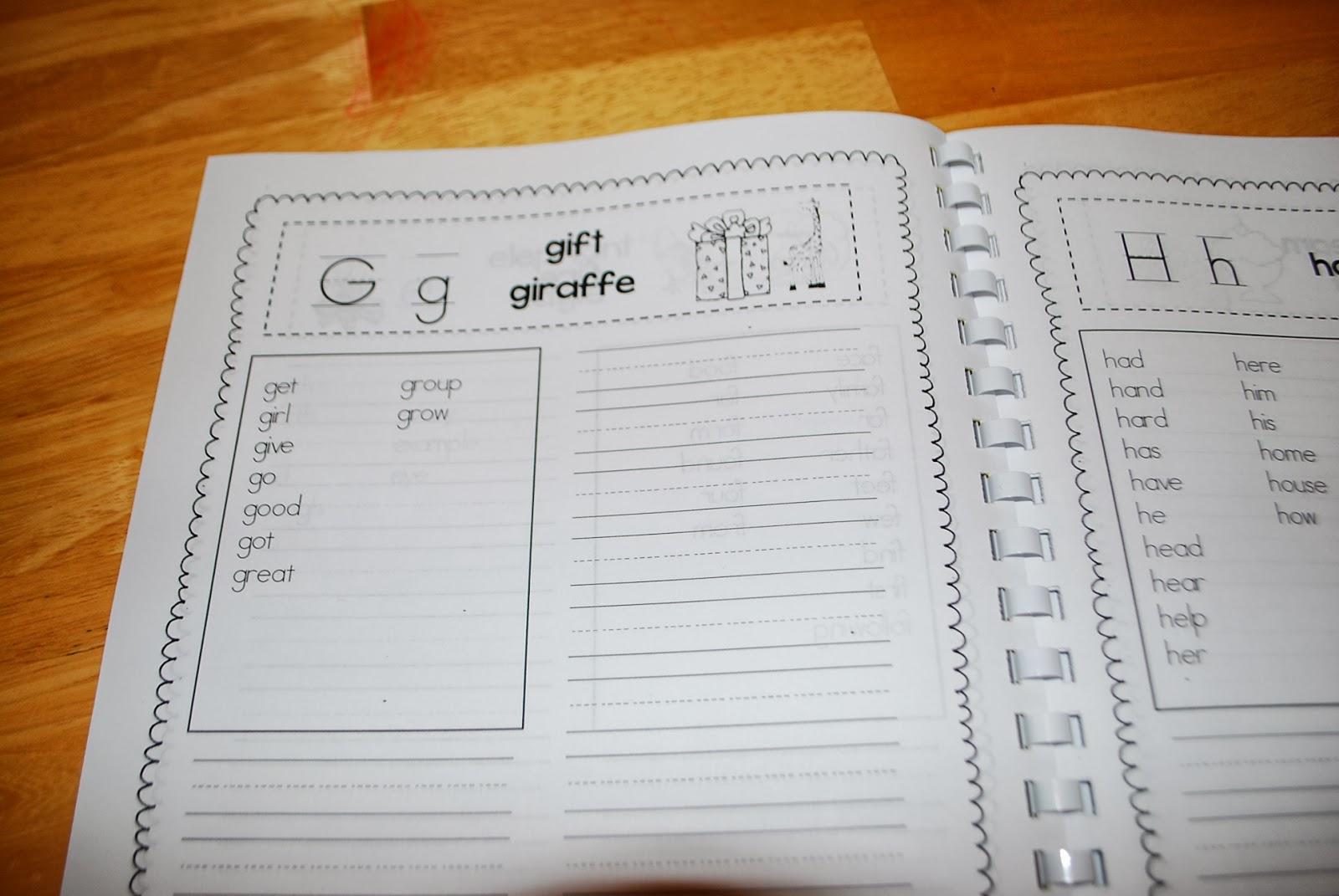 My Spelling Journals
