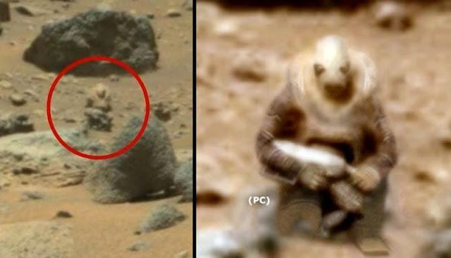 NASA Reavels Alien Soldier Spotted Stalking Curiosity Rover On Mars