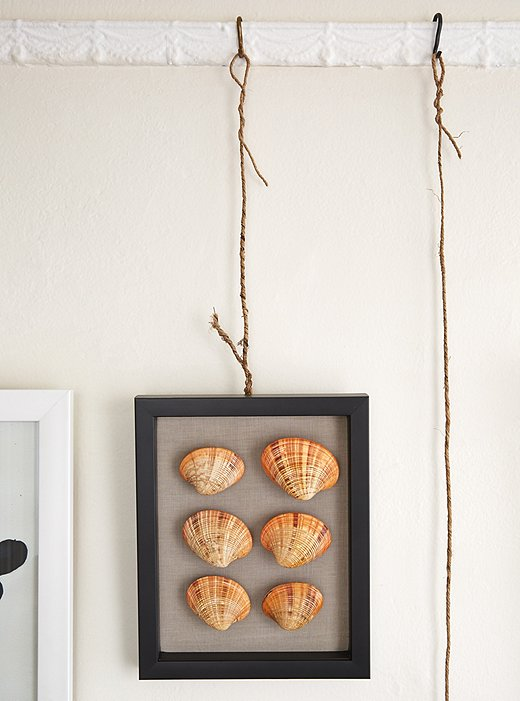 Hanging Coastal Shell Art