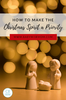 How to make the Christmas Spirit a priority. Tips to organize life so you can enjoy the Christmas spirit during December and get away from hustle and bustle.