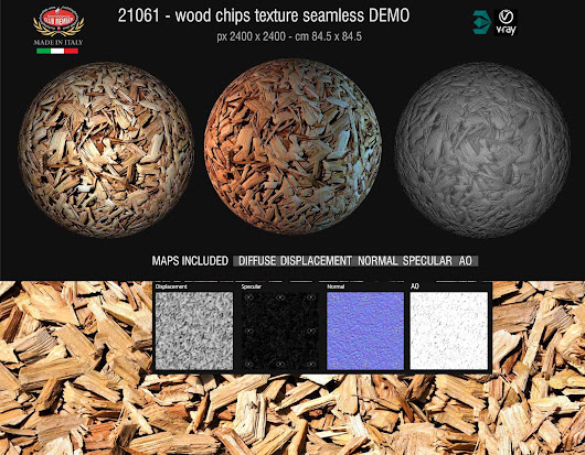 New Seamless Textures Wood Chips and Mulch with maps