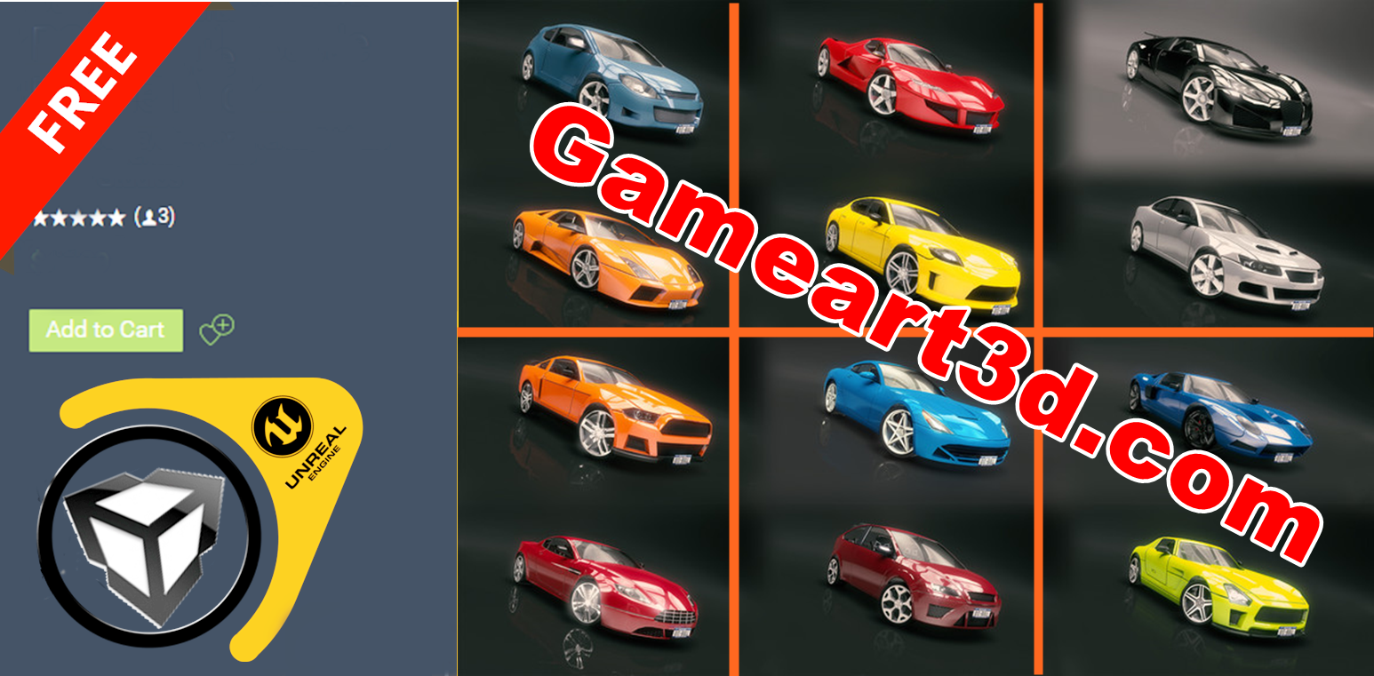 60 Fantastic Race Cars Pack Unity Asset Free To Download