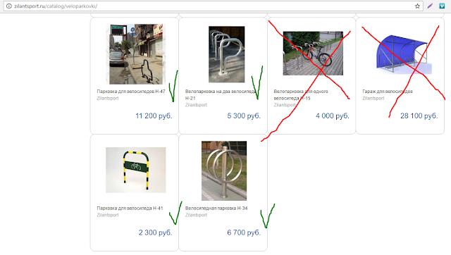 Пример удачных велопарковок - Зилант спорт
