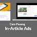 Cara Memasang Iklan In-Article Ads di Tengah Postingan Secara Otomatis (Dibawah Tag Heading h2)