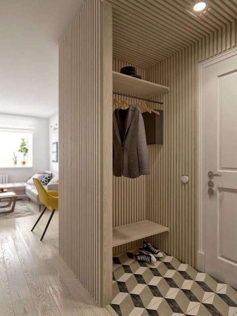 Kệ gỗ để giày dép và treo quần áo